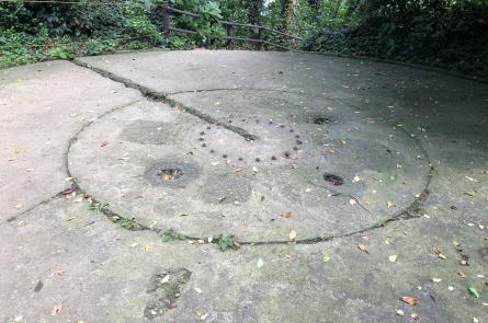 埋められた砲台跡